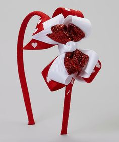Another great find on #zulily! Red Heart Triple-Layer Bow Headband #zulilyfinds