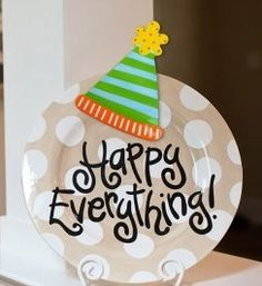 "Love my ""Happy EVERYTHING"" plate ...now I want lots of different attachments!"
