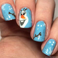 25 Sweetpeas: Olaf Nails!