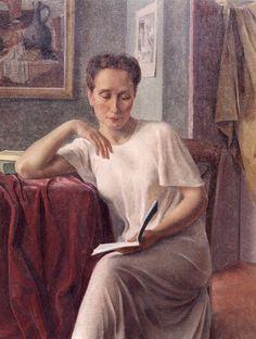 """Louis Buisseret (Belgian, 1888-1956) - """"La lecture"""""""