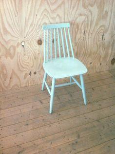 stoel retro vintage deens mint chair danish mint color paint painted