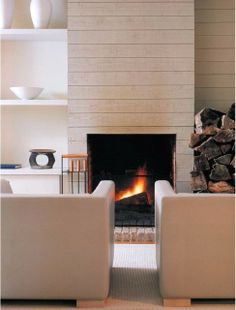 another example of horizontal paneling. DS - Horizontal ok, not sure on the fire place, though? Like other fire places better. See notes.