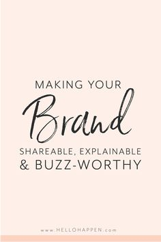 Each person who has an amazing experience with your brand, knows people who would love what you're offering! Are you taking advantage of word-of-mouth marketing to reach your people? Learn the whys and hows of making your brand word-of-mouth-worthy!