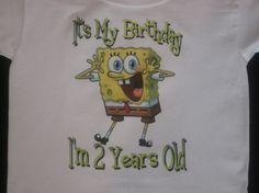 Spongebob Birthday Shirt!!!! So getting one!
