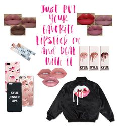 """""""Deal with it👄"""" by sabellacunningham ❤ liked on Polyvore featuring beauty, Lime Crime, Casetify and Kylie Cosmetics"""