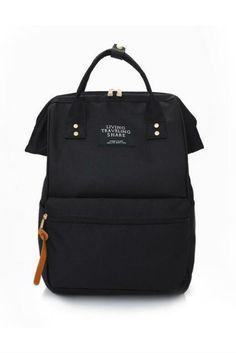 Black Rucksack School Backpack. Black Backpack SchoolCanvas BackpackBackpack  BagsSchool ... a99a156d41