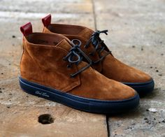 Brown suede desert boots
