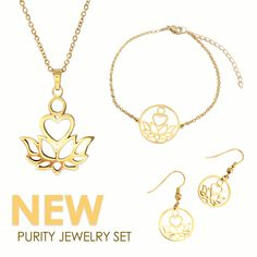 J NINA Impression Rose Gold Dimensional Valentines - Jinkies Jewellery Gold Pendant Necklace, Pendant Set, Gold Earrings, Jewelry Sets, Gold Jewelry, Gold Set, Stainless Steel Chain, Earring Set, Best Gifts