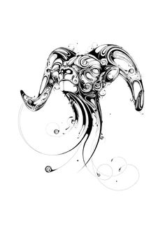 'Resonate' is a series of elegant animal portraits by UK-based artist Si Scott created using black ink swirls.   They were inspired by Briti...