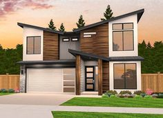 Browse our Modern House Plans & Ultra Modern Home Designs Contemporary House Plans, Modern House Plans, Modern House Design, House Floor Plans, Affordable House Plans, Affordable Housing, Two Story House Plans, Modern Farmhouse Plans, Architectural Design House Plans