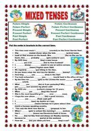mixed verb tenses exercises pdf - Buscar con Google