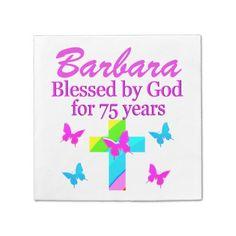CHRISTIAN 75TH PERSONALIZED BIRTHDAY NAPKINS