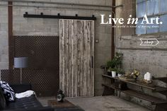 Rustica Hardware - Utah based, craftsman company, specializing in barn doors and tables
