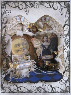 ~Moonbeams and Magic~ Altered Altoid Tin by Jill @ Feathers & Flight Blog