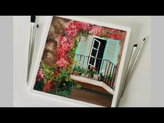 Hello Viewers, Thanks for watching videos on my channel. In This Video, I am showing you how to paint the balcony Window with colorful bougainvillea. Pink Grass, Challenge Week, Bougainvillea, Craft Work, Balcony Window, Art World, Gouache, Painting On Wood, Art Tutorials