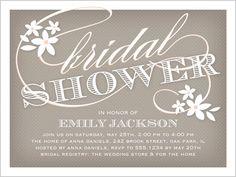 flower flourish bridal shower invitation