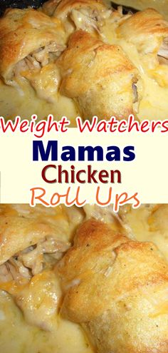 Mamas Chicken Roll Ups - No matter how good I get at cooking, my mother will be better! She's always one step ahead of me, last weekend, she made us these chicken roll-ups, I'm still imagining the taste in my mouth! Check out her recipe. Ww Recipes, Cooking Recipes, Skinny Recipes, Custard Recipes, Easy Meat Recipes, Cake Recipes, Chicken Roll Ups, Crescent Roll Recipes, Tasty