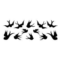 wall tattoo swallows / birds  #silhouette #digistamp