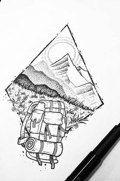 Me gusta, 23 comentarios – Black and White Illustrations (BlackWorkNow) en… - Tatuering Tattoo Drawings, Cool Drawings, Body Art Tattoos, Tatoos, Stylo Art, Hiking Tattoo, Tattoo Und Piercing, Black And White Illustration, Black And White Drawing