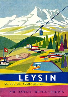 '50s Swiss style luggage labels.