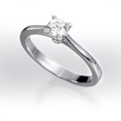 Anillo solitario de diamantes PARIS. Anillo SolitarioOro BlancoAnillos ... d732f9055d
