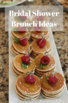 Bridal Shower Brunch Ideas - Simple Elegant ideas for your next bridal shower.  Includes everything from invitations, menu ideas with links to recipes, games and party favors.