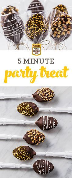 A truffle on a spoon? Yep. Find out how to create these unique & easy party treats with your favorite morsels. Get this how-to from Nestlé Toll House.