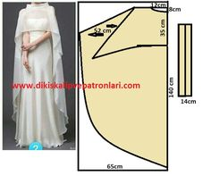 Discover thousands of images about Asimetrik Etek Pelerin Model ve Kalıpları Sewing Dress, Dress Sewing Patterns, Diy Dress, Sewing Clothes, Clothing Patterns, Abaya Pattern, Cape Pattern, Pattern Design, Fashion Sewing