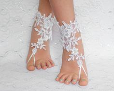 Wedding barefoot sandals, FREE SHIP, wedding shoes, wedding shoes lace, wedding shoes for bride, beach anklets