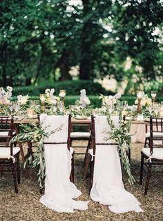 Décoration de chaises de mariage 2017 : des tendances délicates! Image: 23