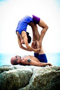 Partner Acro Yoga.  More inspiration at: http://www.valenciamindfulnessretreat.org