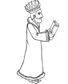 king of persia ahasuerus holding purim scroll coloring page king of persia ahasuerus holding