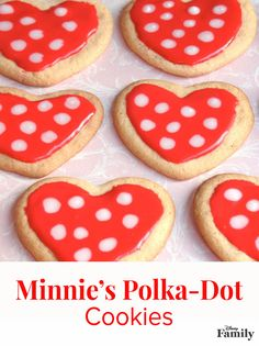 Fashioned after Minnie's favorite dress, these heart-shaped polka-dotted cookies are the perfect fit. They're made with a shiny icing that's easy to spread and pipe (the recipe below makes enough to frost about two dozen 3-inch cookies). Find the recipe and easy directions over at Disney Family.