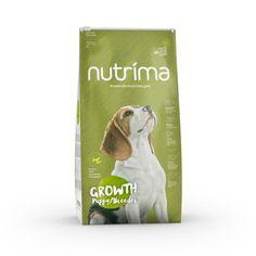 Nutrima Growth Puppy/Breeder -koiranruoka kasvavien pentujen sekä tiineiden ja imettävien emojen ravitsemustarpeisiin.