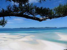 Whitehaven Beach, Whitsunday Island, Australia - Beautiful Places to Visit Vacation Places, Dream Vacations, Vacation Spots, Places To Travel, Most Beautiful Beaches, Beautiful Places To Visit, Beautiful Sites, Whitehaven Beach Australia, Queensland Australia
