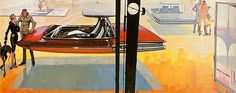 Car concept by Syd Mead