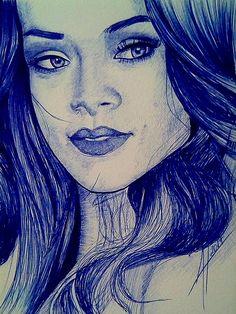 Rihanna por Lebanaart - Retratos | Dibujando.net
