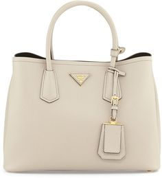 Prada is killing it with this Saffiano Cuir small double bag on ShopStyle!