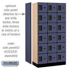Designer Wood Locker - Six Tier Box Style - 3 Wide - 6 Feet High - 18 or 21 Inches Deep - Blue Safe Storage, Locker Storage, Wood Lockers, Storage Places, Deep Blue, Box, Design, Style, Swag