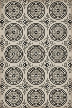 pattern 3 there's no place like home - vintage vinyl floor cloths