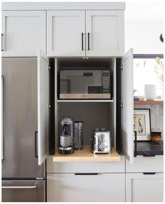 Kitchen Storage Solutions, Diy Kitchen Storage, Home Decor Kitchen, Kitchen Interior, Home Kitchens, Kitchen Organization, Kitchen Ideas, Garage Storage, Kitchen Layout