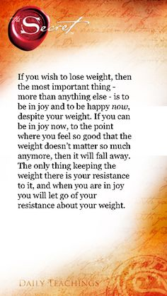 Weight advice
