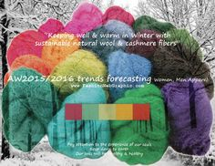 AW2015/2016 trends forecastng for Women, Men Apparel - keeping well & warm in Winter with sustainable natural wool & cashmere fibers...