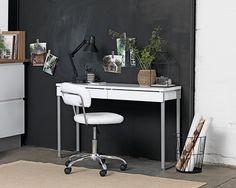 Skrivbord STEGE 40x120 vit högglans