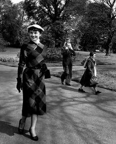 Audrey Hepburn at London's Kew Gardens, photo by Bert Hardy. May 13, 1950.