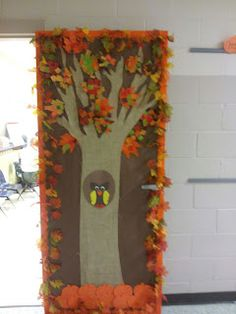 Fall Classroom Door...can Be Used For Halloween By Adding Pumpkins, Bats