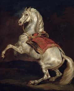 Napoleon's Stallion, Tamerlan (oil on canvas) by Gericault, Theodore (1791-1824); fineartamerica