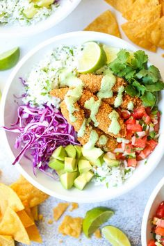 Taco Bowls - The best weeknight meal! With perfectly cooked fish, cilantro . Fish Taco Bowls - The best weeknight meal! With perfectly cooked fish, cilantro . Fish Taco Bowls - The best weeknight meal! With perfectly cooked fish, cilantro . Fish Bowl Recipe, Best Fish Taco Recipe, Fish Recipes, Seafood Recipes, Dinner Recipes, Fish Taco Bowls, Fish Tacos, Corn Salsa, Damn Delicious Recipes