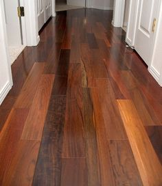 Brazilian walnut flooring for clean and beautiful hallway   Flooring Ideas   Floor Design Trends