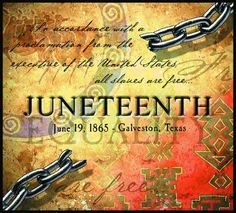 Juneteenth: Click the image to read my post and find the Amazon link for the book.